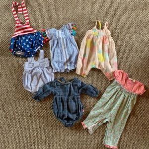 3-6 month 50 piece baby girl LOT
